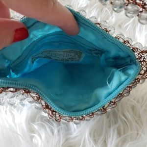 Cappelli Bags - Turquoise beaded purse